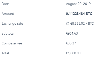 coinbase btc rate